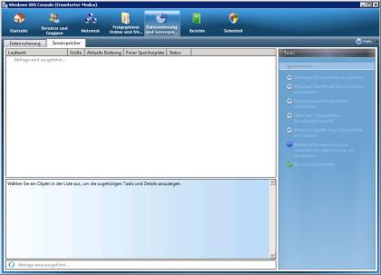 Die Windows SBS 2008 Console reagiert für ca. 2-3 Minuten nicht...
